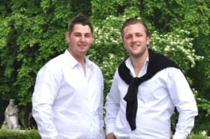 Schreinermeister Marco Schiller und Michael Wimmer