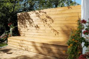 Terrasse S Sichtschutz und Sitzbank - Garten, Privatbereich