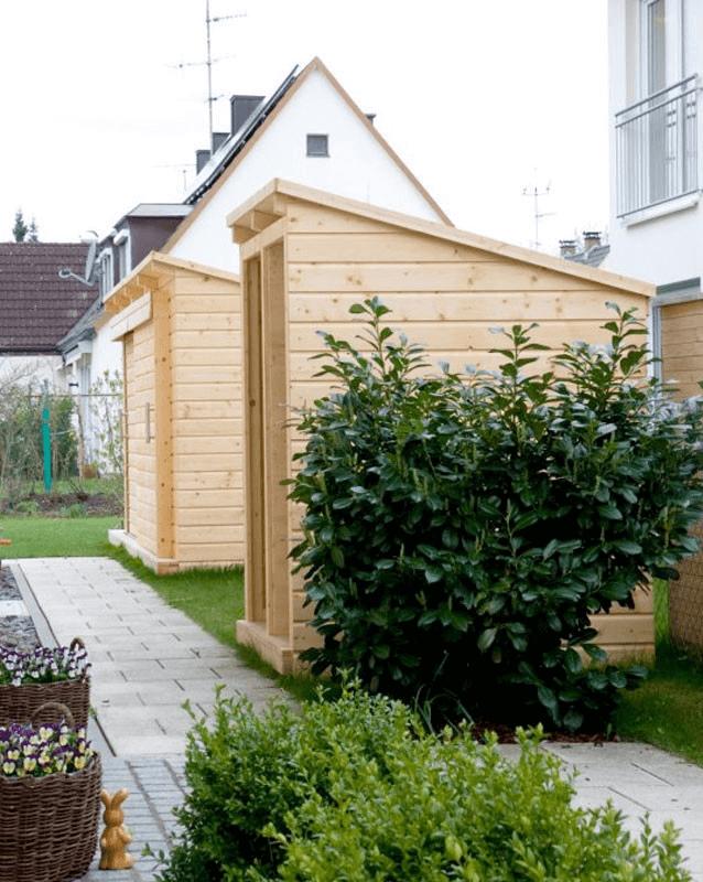 Gartenhaus R Seitenansicht - Garten, Privatbereich
