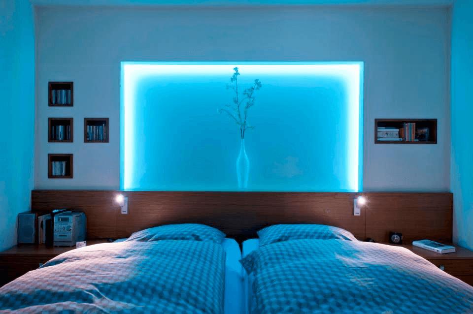Frontansicht Bett H - Privatbereich, Wohnen