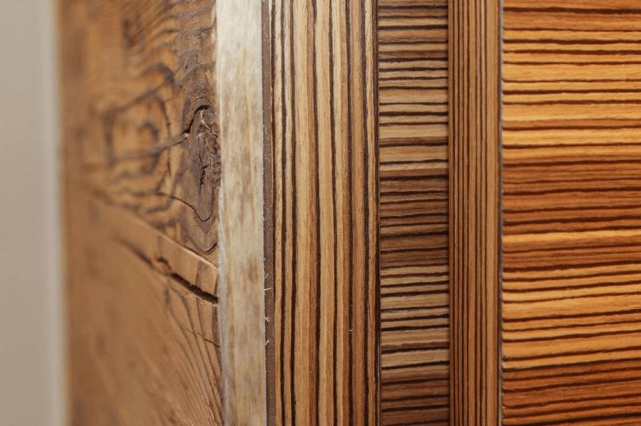 Restaurant Ottantanove Detailansicht Fichtenholz - Objektbereich, Restaurants