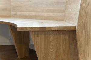 Eckbank H Detailansicht Sitzfläche und Füße - Privatbereich, Wohnen