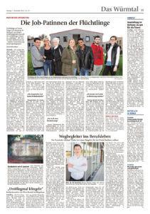 Zeitungsartikel Schiller & Wimmer Schreinerei als Praktikumsstätte für Flüchtlinge