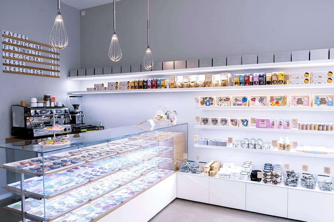 Laden Keksliebe Präsentationsregale und Verkaufstheke - Läden, Objektbereich