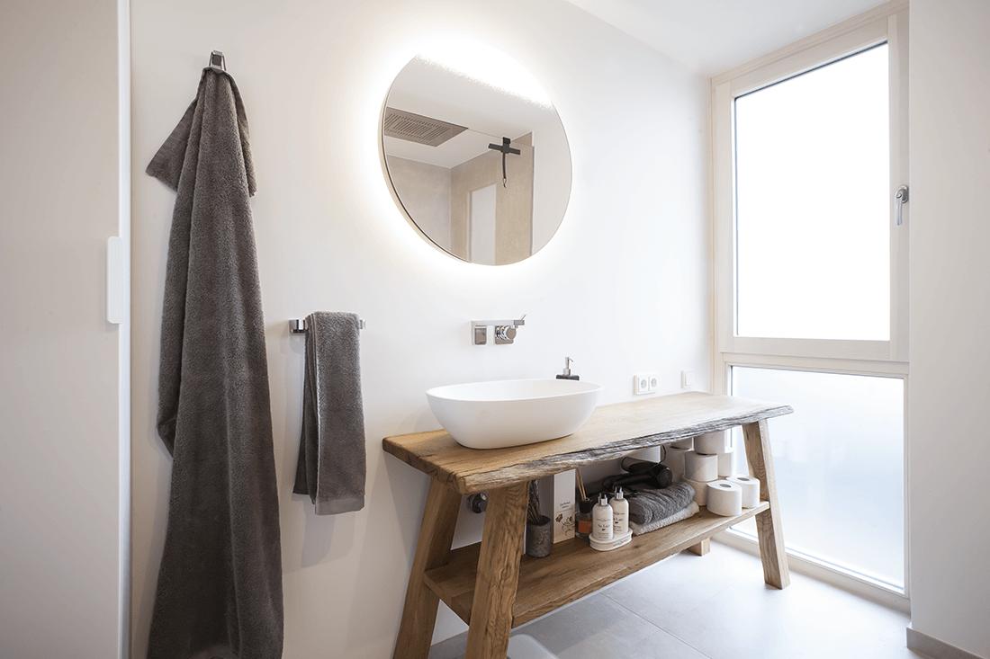 Bademöbel S Waschbeckenunterschrank Holz - Badezimmer, Privatbereich