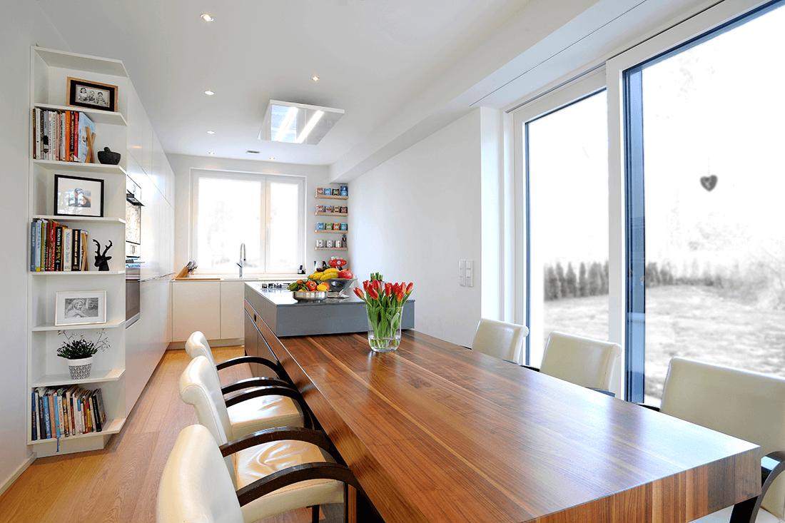 Wohnen W.A Küche Esstisch aus Holz - Küche, Privatbereich